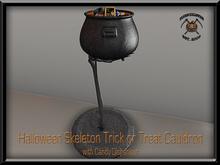 KHARGO HALLOWEEN SKELETON TRICK OR TREAT CAULDRON - WITH CANDY DISPENSER