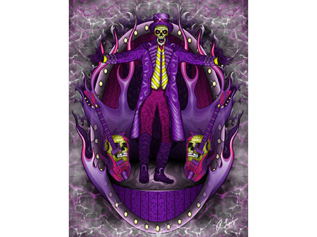Skeleton Magician Art Canvas
