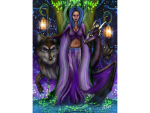 Animal Queen Art Canvas