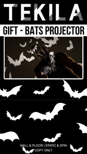TEKILA - BATS PROJECTOR (WHITE) - OCTOBER GIFT