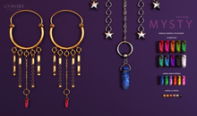 :ANDORE: - earring  - Mysty [FATPACK]