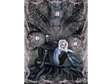 Love is Complicated Grim Reaper Art Canvas