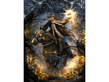 Skeleton Horseman Art Canvas