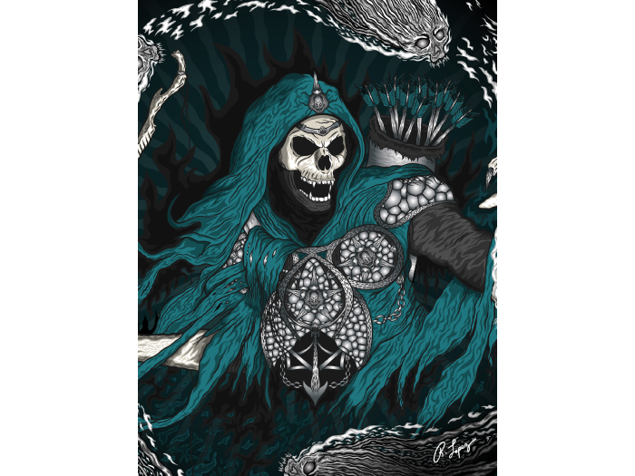 Underworld Grim Reaper Art Canvas