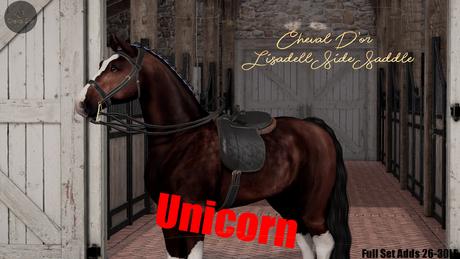 Cheval D'or / TeeglePet Unicorn / Lisadell Sidesaddle Set