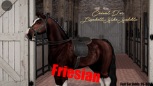 Cheval D'or / TeeglePet Friesian / Lisadell Sidesaddle Set.