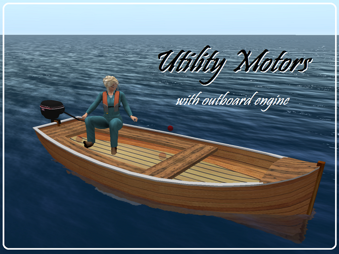 'Utility Motors' with outboard engine