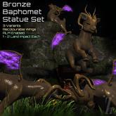 [inZoxi] - BOX - Bronze Baphomet Statue Set