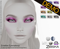 Zibska ~ Emeline Eyemakeup Demos [lelutka/genus/laq/catwa/omega/tattoo]