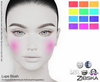 Zibska ~ Lupe Blush in 12 colors with Lelutka, Genus, LAQ, Catwa and Omega appliers and tattoo layers