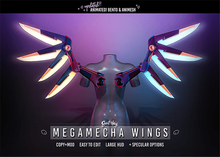 Sweet Thing. MegaMecha Wings - ANIMATED Bento and Animesh Wings for Cyber Punk & SciFI Cosplay, Gamers or Android Lovers