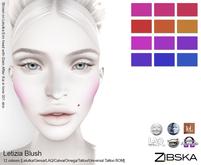 Zibska ~ Letizia Blush in 12 colors with Lelutka, Genus, LAQ, Catwa and Omega appliers, tattoo & universal tattoo BOM