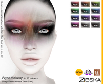 Zibska ~ Wyot Makeup in 12 colors with Omega applier, tattoo and universal tattoo BOM layers