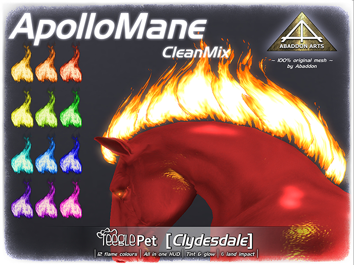 ABADDON ARTS - Apollo Mane CleanMix [Teeglepet Clydesdale]