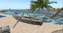 5 prim weather beaten row boat