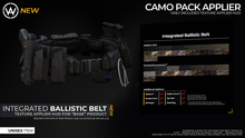 [WAZ] Integrated Ballistic Belt Applier (Plain Pack) [Texture HUD]