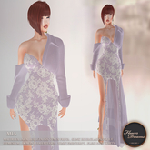 .:FlowerDreams:. Mia Gown Floral Lace - lilac