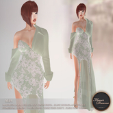.:FlowerDreams:. Mia Gown Floral Lace -  sea green