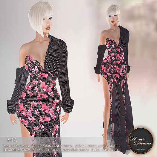 .:FlowerDreams:. Mia Gown Dotty Magnolia - pink