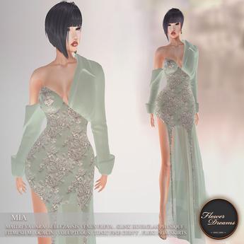 .:FlowerDreams:. Mia Gown Autumn Romance - sea green