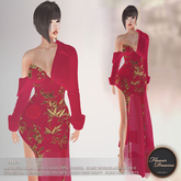 .:FlowerDreams:. Mia Gown Asian Spring - red
