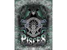 Pisces Skeleton Art Canvas