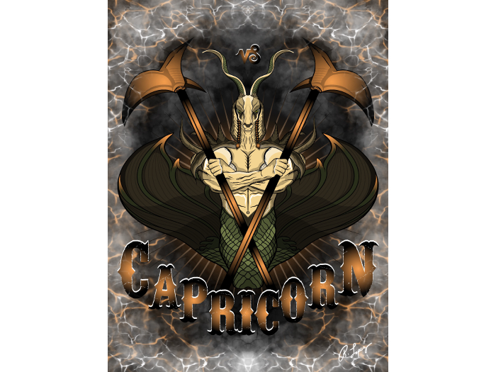 Capricorn Zodiac Goat Art Canvas