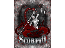Scorpio Zodiac Scorpion Art Canvas