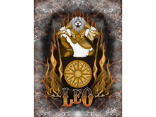 Leo Zodiac Lion Art Canvas