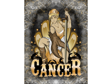 Cancer Zodiac Warrior Art Canvas
