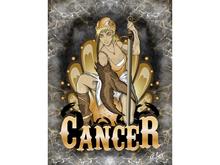 Cancer Zodiac Warrior Art Canvas