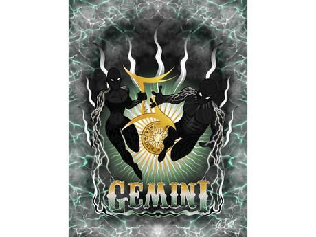 Gemini Zodiac Shadows Art Canvas