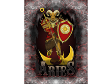 Aries Zodiac Ram Art Canvas