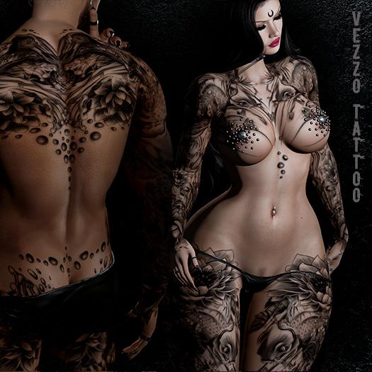 Kai Tattoo - Black, single colour, Maitreya, Legacy, INTHIUM KUPRA, Belleza, Signature, Omega, BOM - Vezzo Ink