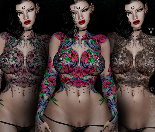 Moana Unisex Sea Tattoo - Coloured Fatpack, Maitreya, Legacy, INTHIUM KUPRA, Belleza, Signature, Omega, BOM - Vezzo Ink