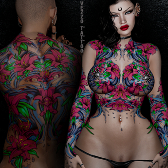 Moana Unisex Sea Tattoo - Pink Colour, Maitreya, Legacy, INTHIUM KUPRA, Belleza, Signature, Omega, BOM - Vezzo Ink