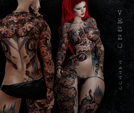 Hydra Unisex Tattoo - Single colour, Maitreya, Legacy, INTHIUM KUPRA, Belleza, Signature, Omega, BOM - Vezzo Ink