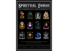 12 Zodiac Wall Art Canvases