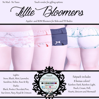 FanZy  - Lillie Bloomers {Fatpack}