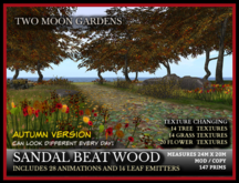 TMG - SANDAL BEAT WOOD* Texture changing forest