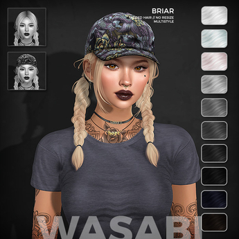 Wasabi // Briar Mesh Hair - B&W
