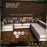 =Mirage= SectionalSofa - AfricanSpice PG