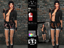V-Twins - Slayer Biker for Maitreya, Belleza and Slink