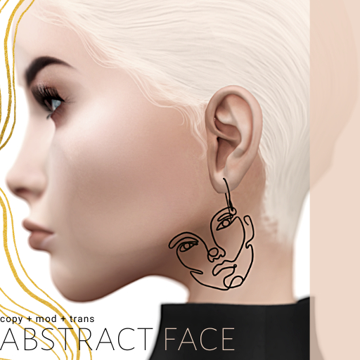 [teabug] abstract face earrings