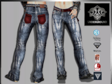 +V8-SHOP-UNDERGROUND PANTS+RED
