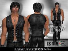 Immerschoen Man - Leather Vest #1 Black