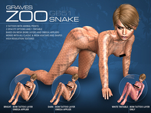 GRAVES Zoo - Snake - Animal Print Tattoo, BOM, Omega Applier