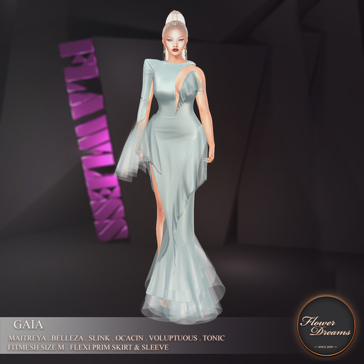 .:FlowerDreams:.Gaia Gown - skyblue