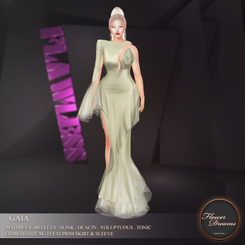 .:FlowerDreams:.Gaia Gown - seagreen