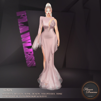 .:FlowerDreams:.Gaia Gown - rosewater
